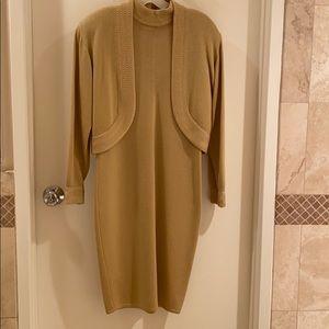 St. John knit long sleeve dress with jacket